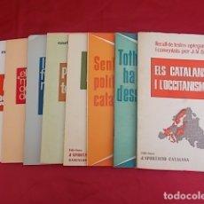 Libros: 8 LLIBRES. EDICIONS D' APORTACIÓ CATALANA. LLEGIR INTERIOR. Lote 172426963