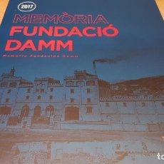 Libros: TEMA CERVEZA / MEMÒRIA FUNDACIÓ DAMM - 2017 / CATALÁN Y CASTELLANO / NUEVO.. Lote 172909462