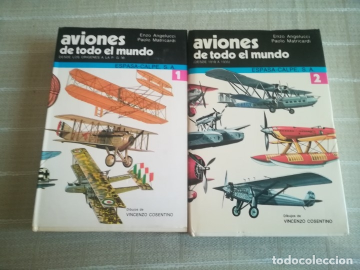 AVIONES DE TODO EL MUNDO TOMO 1 Y 2 ESPASA CALPE (Libros sin clasificar)