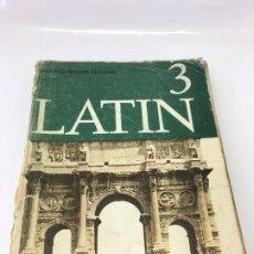 Libros: LATIN 3, SANTIAGO SEGURA MUNGUIA, LIBRO DE BACHILLERATO, ANAYA, 1969. Lote 173022238