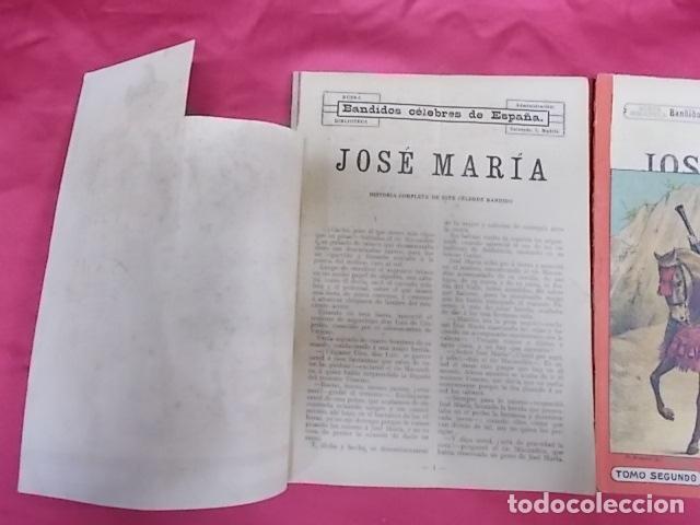 Libros: BANDIDOS CELEBRES DE ESPAÑA. JOSÉ MARÍA. NUEVA BIBLIOTECA. DOS TOMOS - Foto 2 - 173170303