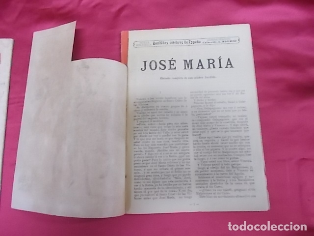 Libros: BANDIDOS CELEBRES DE ESPAÑA. JOSÉ MARÍA. NUEVA BIBLIOTECA. DOS TOMOS - Foto 5 - 173170303