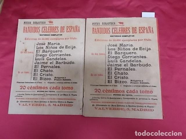 Libros: BANDIDOS CELEBRES DE ESPAÑA. JOSÉ MARÍA. NUEVA BIBLIOTECA. DOS TOMOS - Foto 10 - 173170303