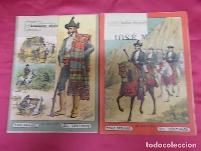 BANDIDOS CELEBRES DE ESPAÑA. JOSÉ MARÍA. NUEVA BIBLIOTECA. DOS TOMOS (Libros sin clasificar)