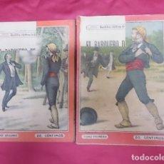 Libros: BANDIDOS CELEBRES DE ESPAÑA. EL BARQUERO DE CANTILLANA. NUEVA BIBLIOTECA. DOS TOMOS. Lote 173170584