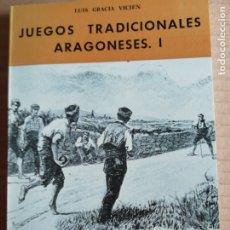 Libros: JUEGOS TRADICIONALES ARAGONESES I-COLECCION ARAGON Nº19. Lote 173381414