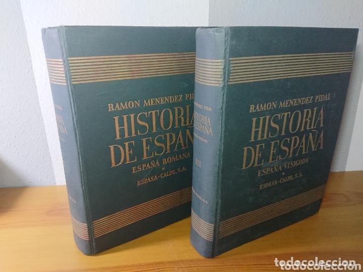 HISTORIA DE ESPAÑA - TOMO II Y TOMO III, RAMÓN MENENDEZ, ESPAÑA ROMANA + VISIGODA (Libros sin clasificar)