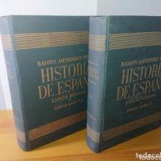Libros: HISTORIA DE ESPAÑA - TOMO II Y TOMO III, RAMÓN MENENDEZ, ESPAÑA ROMANA + VISIGODA. Lote 174101622