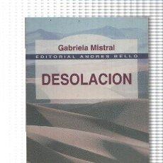 Libros: DESOLACION DE GABRIELA MISTRAL. Lote 174185048