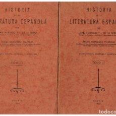 Libros: HISTORIA DE LA LITERATURA ESPAÑOLA TOMOS I Y II. (OBRA COMPLETA) CUARTA EDICIÓN CORREGIDA Y AUMENTAD. Lote 174277178