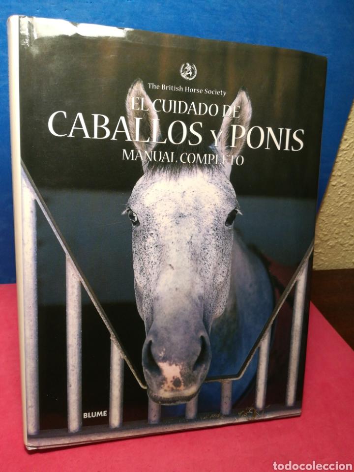 El cuidado de caballos y ponis, manual completo - The British Horse Society - Blume, 2006 segunda mano