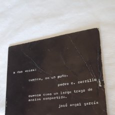 Libros: A DOS VOCES: CUENCA, EN UN PUÑO. PEDRO CERRILLO.Y JOSE ANGEL GARCÍA. Lote 174442153