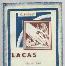 Libros: LACAS PARA LAS UÑAS (ESMALTES NITROCELULÓSICOS) - CLAUDIO BADLEY / EDITORIAL SINTES. Lote 176164177