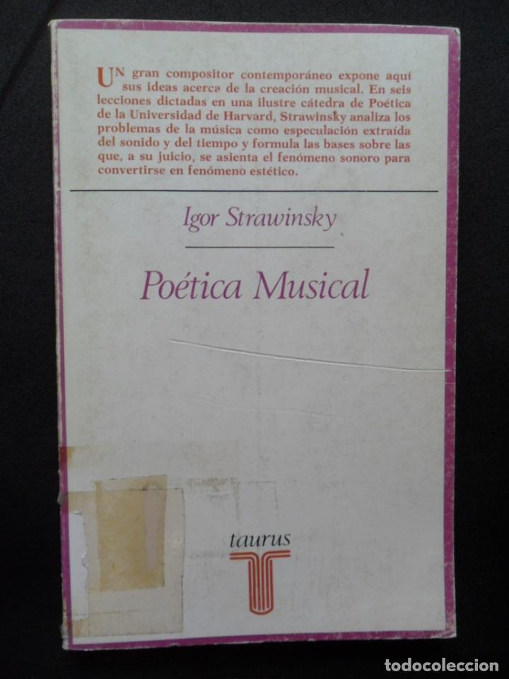 STRAWINSKY [STRAVINSKI], IGOR - POÉTICA MUSICAL (Libros sin clasificar)