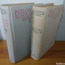 Libros: PHILOSOPHIAE SCHOLASTICAE SUMMA TOMOS I Y II, 1957. Lote 176568782