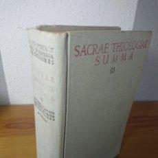Libros: SACRAE THEOLOGIAE SUMMA, III, 1961. Lote 176569032