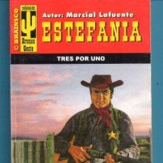 Livros: NOVELA DE ESTEFANÍA EDICIÓN BRAINSCO BRONCO OESTE TÍTULO TRES POR DOS Nº305 BO UNA ESTRELLA. Lote 176639667