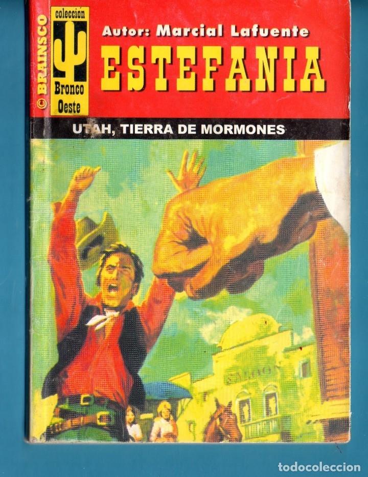 NOVELA DE ESTEFANÍA EDICIÓN BRAINSCO BRONCO OESTE TÍTULO UTAH TIERRA DE MORMONES Nº74BO UNA ESTRELLA (Libros Nuevos - Literatura - Narrativa - Aventuras)