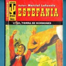 Libros: NOVELA DE ESTEFANÍA EDICIÓN BRAINSCO BRONCO OESTE TÍTULO UTAH TIERRA DE MORMONES Nº74BO UNA ESTRELLA. Lote 176639808