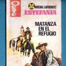 Libros: NOVELA DE ESTEFANÍA EDICIÓN HEROES DEL OESTE TITULO MATANZA EN EL REFUGIO Nº 1091. Lote 176643263