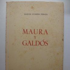 Libros: MAURA Y GALDÓS. GUIMERÁ PERAZA. 1967. Lote 176643514