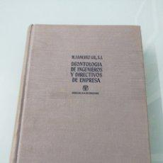 Libros: DEONTOLÓGIA DE INGENIEROS Y DIRECTIVOS DE EMPRESA. M. SÁNCHEZ GIL. MADRID, 1960.ED.AGUILAR.. Lote 176742510