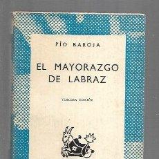 Libros: MAYORAZGO DE LABRAZ - EL. Lote 169617422