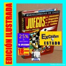 Libros: JUEGOS DE MANOS DE INGENIO DE PRENDAS Y DE SALÓN - ANTONIO DE ARMENTERAS - MAGIA PREDISTIGITACIÓN. Lote 176947644