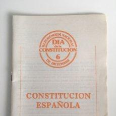 Libros: CONSTITUCIÓN ESPAÑOLA 1978 REFERÉNDUM NACIONAL. Lote 176954613
