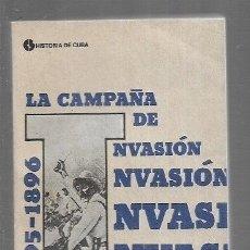 Libros: CAMPAÑA DE INVASION - LA 1895-1896. Lote 157783180