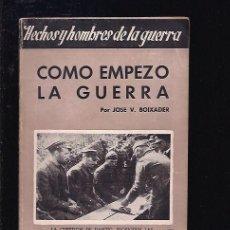 Livros em segunda mão: COMO EMPEZO LA GUERRA. Lote 86334931