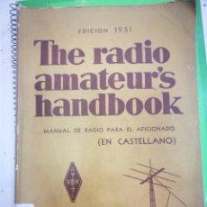 Libros: MANUAL DE RADIO PARA EL AFICIONADO EDICION 1951 EN CASTELLANO. Lote 177040860