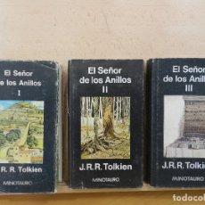 Libros: EL SEÑOR DE LOS ANILLOS. OBRA COMPLETA. TRES VOLÚMENES. Lote 177136979