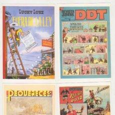 Libros: LOTE DE 4 FICHAS DE Nº 1. DDT, FLECHA ROJA, LUCKY LUKE Y PEQUEÑECES. Lote 177253567