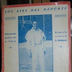 Libros: ALONSO. EL MARAVILLOSO JUGADOR DE LAWN-TENNIS. LOS ASES DEL DEPORTE - MALUQUER, ALBERTO. Lote 40129801