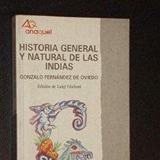 Libros: IMAGEN DE ARCHIVO HISTORIA GENERAL Y NATURAL DE LAS INDIAS / EDICIÓN DE LUIGI GIULIANI . Lote 177863532