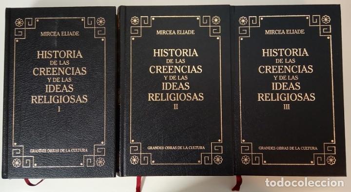 Libros: HISTORIA DE LAS CREENCIAS Y DE LAS IDEAS RELIGIOSAS (OBRA COMPLETA EN 3 TOMOS) - MIRCEA ELIADE - Foto 2 - 177996477