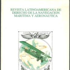 Libros: REVISTA LATINOAMERICANA DE DERECHO DE LA NAVEGACIÓN MARÍTIMA Y AERONÁUTICA Nº 1/2 (1988) - VV.AA.. Lote 178000330