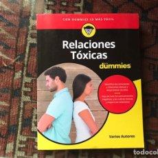Libros: RELACIONES TÓXICAS PARA DUMMIES. COMO NUEVO. Lote 178163792