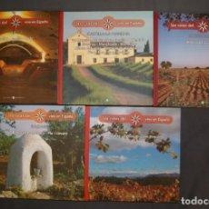 Libros: LOTE 18 LAS RUTAS DEL VINO EN ESPAÑA Y LAS RUTAS DEL VINO EN EL MUNDO. Lote 178593616