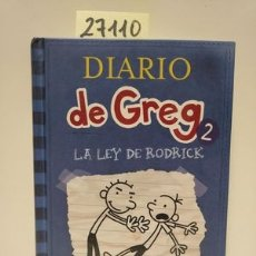 Libros: DIARIO DE GREG 2: LA LEY DE RODRICK - KINNEY, JEFF. Lote 173583249