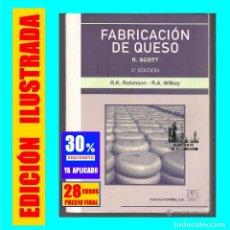 Libros: FABRICACIÓN DE QUESO - R. SCOTT - R. K. ROBINSON - R. A. WILBEY - EDITORIAL ACRIBIA - 28 € FINAL. Lote 178786568