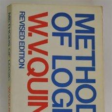 Libros: METHODS OF LOGIC - W. V. QUINE. Lote 81727974