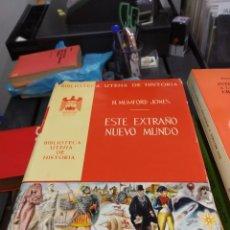 Libros: H. HUMFORD JONES ESTE EXTRAÑO NUEVO MUNDO. Lote 178863027
