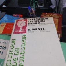 Libros: HISTORIA DE LA FILOSOFIA ESPASA CALPE FRANÇOIS CHATELET DE LAS CIENCIAS SOCIALES 4. Lote 178864846