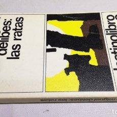 Libros: LAS RATAS - MIGUEL DELIBES - 8DESTINOLIBROZ403. Lote 178889547