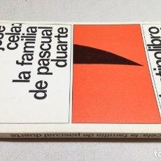 Libros: LA FAMILIA DE PASCUAL DUARTE - CAMILO JOSE CELA 4 DESTINOLIBRO Z404. Lote 178889755