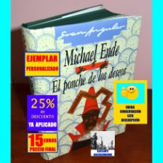 Libros: EL PONCHE DE LOS DESEOS - MICHAEL ENDE - AUTOR DE LA HISTORIA INTERMINABLE / MOMO - PERSONALIZADO. Lote 179108528
