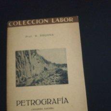 Libros: W. BRUHNS, PETROGRAFIA. Lote 179209363