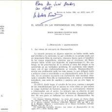 Libros: EL AZOGUE EN LAS POSTRIMERIAS DEL PERÚ COLONIAL. MARÍA DOLORES FUENTES BAJO. Lote 179229028
